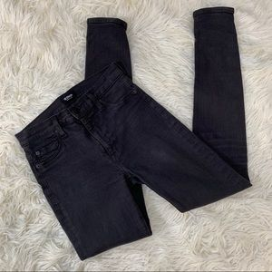 Hudson Faded Black Skinny Jeans